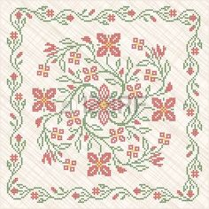 Illustration about Cross-stitch embroidery in Ukrainian traditional ethnic style. Illustration of traditional, ethnic, sewing - 28873776 Cross Stitch Pillow, Cross Stitch Rose, Cross Stitch Embroidery, Cross Stitch Patterns, Doodle Frames, Free Frames, Beautiful Handmade Cards, Free Illustrations, Art Images