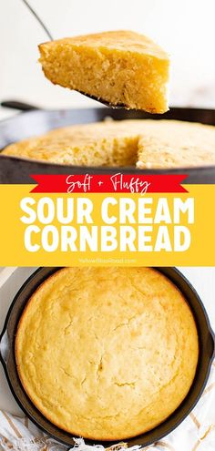 Sour Cream Cornbread is the perfect sidekick to just about any meal this summer! Try this for a side dish that is sure to please! #summermeals #cornbread #sidedish Sour Cream Cornbread, Bowl Of Soup, Bread Rolls, Soul Food, Bread Recipes, Holiday Recipes, Bakery, Dessert Recipes, Corn Bread