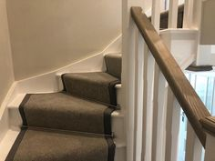 Greendale Wirrel Twist laid to a new build in Eversley. Crucial Trading edging on the stairs and stairods uk stair rods. Flooring Shops, Types Of Flooring, Stair Rods, Stair Carpet, Carpet Styles, New Carpet, Carpet Ideas, New Builds, Carpets