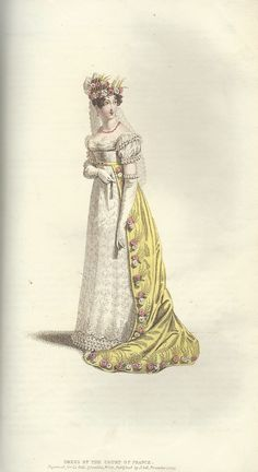 Court Dresses, Regency Dress, 19th Century Fashion, Satin Shoes, Dress Hairstyles, Shades Of White, Historical Clothing, Fashion Plates, Passion For Fashion
