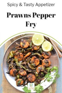 Prawns pepper fry is a delicious and spicy stir fry made with prawns or shrimps with black pepper and cumin powder. This shrimp stir fry can be prepared in just 15 minutes and can be served as an appetizer. Serve pepper prawns Indian with a dash of lemon for the lemony pepper taste.  Find step by step pictures to make this delicious black pepper prawns. Crispy salt and pepper shrimp masala with chilli and pepper powder tastes delicious. Salt And Pepper Shrimp, Shrimp Stir Fry, Easy Dinner Recipes, Easy Meals, Prawns Fry, India Food, Biryani, Appetizers, Kitchens
