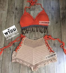 Aquele conjunto perfeito 👏😍 . 📷By @p_patcricri . . Preparamos um super pacote com lindos gráficos de crochê e amigurumi em português.… Crochet Bikini Top, Crochet Shorts, Crochet Clothes, Crochet Lace, Crochet Lingerie, Bikini Outfits, Beachwear, Cute Outfits, Hair Color