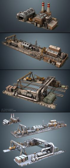 Factories (game asset) by *MikeMS on deviantART