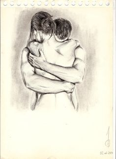 Drawing of lovers Couple love sexy cute Dessin Art Artwork Pencils Portrait Sketch