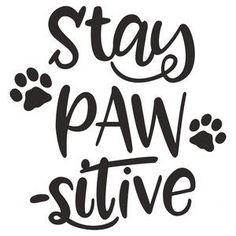 Dog Mom Discover Silhouette Design Store: Love Has Four Paws Silhouette Design Store: stay pawsitive Silhouette Design, Cat Silhouette, Dog Mom, Diy Pet, Motivacional Quotes, Yorky, Dog Signs, Design Shop, Animal Quotes