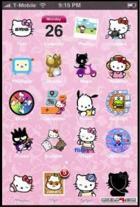 Hello Kitty iOS Theme