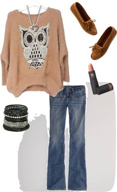 """""""Cute and Comfy Fall Outfit"""" by mngirl13 on Polyvore"""