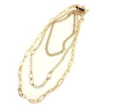Karina Layered Gold chain necklace