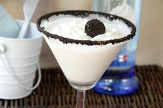 cookies and cream martini with whipped cream flavored vodka