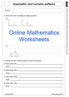 Education worksheets for Grade R - 12 - E-Classroom Social Science, Science And Technology, Number Patterns, 3 Online, School Worksheets, Grade 3, Life Skills, Mathematics, Classroom