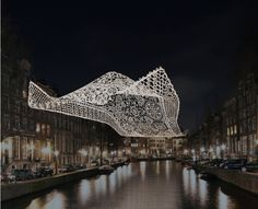 Amsterdam Light Festival  - 'The Lace' - Choi + Shine Architects