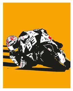 Etsy の Marc Marquez MotoGP by PosterBoys