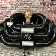 Rustic Industrial Lamp made from a BMW Intake by KaizenWoodworks