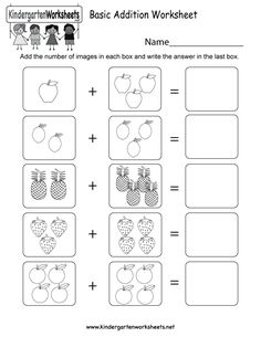 This is a picture addition worksheet. Children are asked to add the pictures together to get the answer. You can download, print, or use it online. Kindergarten Addition Worksheets, Kindergarten Math Worksheets, Preschool Math, Worksheets For Kids, Math Activities, Kindergarten Pictures, Foreign Language Teaching, Montessori Elementary, Teaching French
