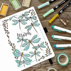 Bullet Journal Goals Page, March Bullet Journal, Bullet Journal Headers, Bullet Journal Monthly Spread, Bullet Journal Cover Ideas, Bullet Journal Quotes, Bullet Journal Notebook, Bullet Journal Aesthetic, Journal Covers