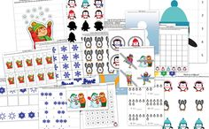FREE---The Winter Printable Pack for Tots and Preschoolers contains 34 activities focused on skills such as creative expression, shapes, same vs. different, sorting, sequencing, puzzles, fine motor, math, and literacy. Several activities have multiple versions so you can tailor the difficulty of the activity to your child's skill level.