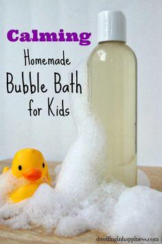 Calming DIY Bubble Bath for kids