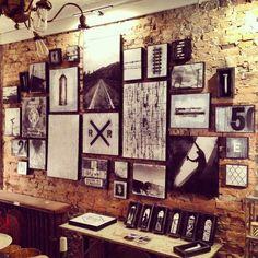 Artist Bisco Smith at Harvey's Counter, 443 Warren Street, Hudson NY