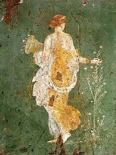 Flora, Fresco de Stabia.   Siglo I a.C. // Museo de Nápoles