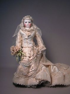 "18"" Early Barrois or Blampoix French Fashion on her Wedding Day from maspinelli on Ruby Lane"