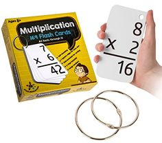 Star EducationTM Multiplication Flash Cards, 0-12 (All Facts-169 Cards) With 2 Rings >>> Check this awesome image @