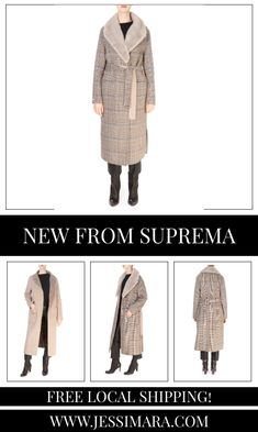 This is the 'Cardiff' Reversible Check Grey Coat With Detachable Mink Collar by our friends at Suprema! Distinguished by its refined and worked style but differs thanks to a loose fit. Featuring a detachable mink collar, gorgeous belt, large pockets, and is reversible. It will suit for a stylish and casual style.