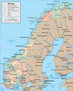 nice Map of Norway