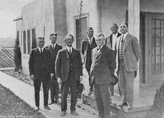 Board of Directors of the Weeks Poultry Community, circa 1927. In 1920, the Los Angeles Chamber of Commerce requested that Charles Weeks come to the San Fernando Valley to establish a series of one-acre egg farms. The Weeks poultry colony developed into a small farming community, which actively engaged in uplifting the spirit of its members and aided in the social, intellectual and artistic enlightenment of the region.  West Valley Museum. San Fernando Valley History Digital Library.