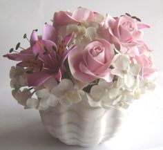 Clay Flowers Centerpiece - Clayflowersdesign