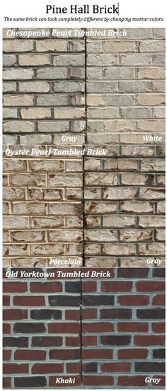 One Brick Color Three Different Mortar Colors Dramatic