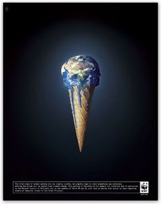 the world melting like an ice cream grabs attention well b. Online Marketing, Vibrant, Environment, Ads, Advertising, Change, World, Oceans, Epoxy