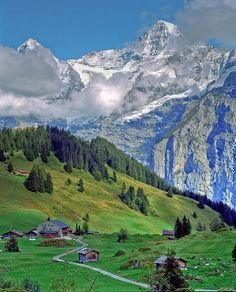 Swiss Alps farm. I can't get over how beautiful this is!