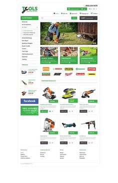 'Tools Store' OpenCart Template 45524 http://zign.nl/45524