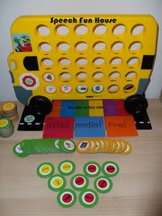 Speech Fun House: Simple & Easy Articulation Game maybe with Aleena tacky glue Articulation Therapy, Articulation Activities, Kids Learning Activities, Speech Therapy Activities, Language Activities, Speech Therapy Games, Speech Pathology, Speech Language Pathology, Speech And Language