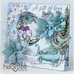 Heartfelt Creations - Christmas Poinsettia Window Card Project