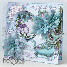 Gallery   Christmas Poinsettia Window Card - Heartfelt Creations