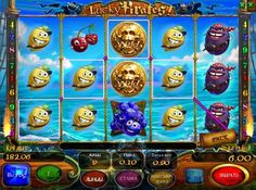 Игровые автоматы на реалные деньги - Lucky Pirates (Счастливые Пираты). Игра в автомате Lucky Piratesна происходит на 5 барабанах, а ставки можно делать на 9 линий. Также автомат Счастливые Пираты имеет символы Wild и Scatter. Есть риск-игра, позволяющая значительно приумножить каждый заработанный выигрыш.