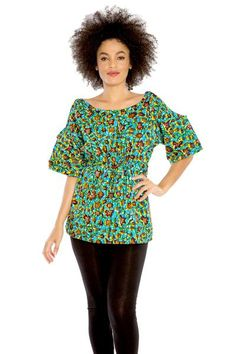 Keep your spirits soaring while you chase your dreams with the uplifting bright colors and cheerful African floral print of the Dream Chaser Top. Ready to mix a