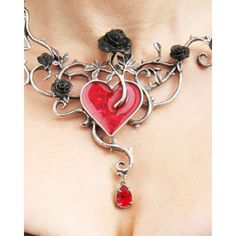 No One Makes Me Bleed My Own Blood: http://www.inkedshop.com/bed-of-blood-roses-pendant-by-alchemy-of-england.html