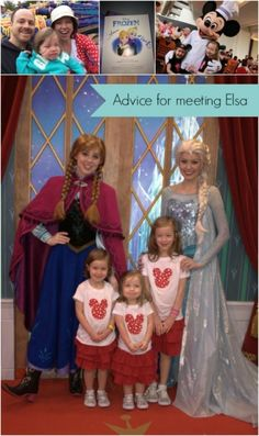 """Real moms of Disney: Advice from those in the trenches of planning! Love these great suggestions for the character greeting with the """"Frozen"""" Princesses! I am totally doing this!"""