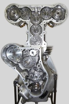 "cncenginedynamics: ""The Swiss watch of motorcycle engines : Machined entirely by hand,by 69 year old Les Diener,over a 2 year period. The Eldee Velocette ; Bore & stroke:68mm x 68.5mm,double overhead..."