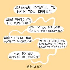 ✨ Some questions time help you reflect the next time you journal ⁣⁣ Journal Questions, Mental Health Journal, Journal Writing Prompts, Keeping A Journal, Writing Challenge, Bullet Journal Ideas Pages, Pep Talks, Life Advice, Self Help