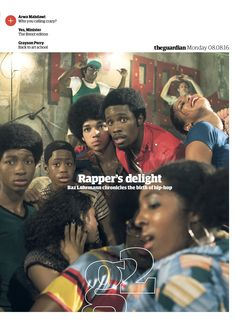 Guardian g2 cover: Rapper's delight. #editorialdesign #newspaperdesign #graphicdesign #design