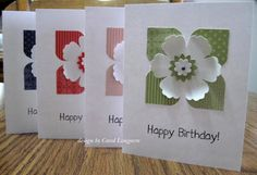 cards by Carol Longacre.... would be really cute as a thank you gift card set!..... (change sentiment)