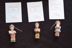 MINT-3pc-Studio-Hummel-Berta-Goebel-Ashton-Drake-Christmas-Ornaments-Set-14-COA