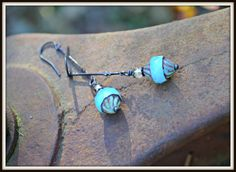 Milky Blue Glass Earrings Czech Glass and by practicallyfrivolous, $25.00