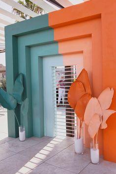 12 Terrific Door Design Ideas • One Brick At A Time Wallpaper Inspiration, Color Inspiration, Photowall Ideas, Room Decor, Wall Decor, Installation Art, Event Decor, Event Design, Color Schemes