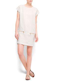 MANGO - CLOTHING - Spring-Summer - Tops - Linen dress