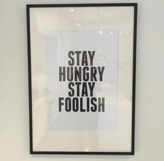 Hungry, foolish