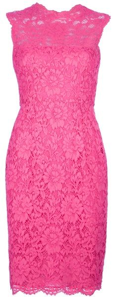 valentino Sleeveless Shift Dress - love this lace pattern
